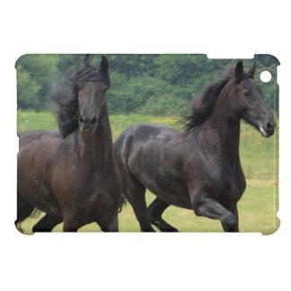 Galloping Friesian Horses Cover For The iPad Mini