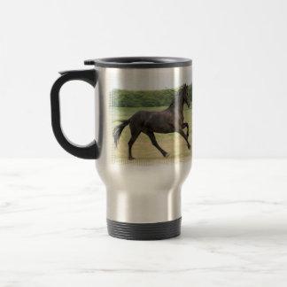Galloping Friesian Coffee Mugs