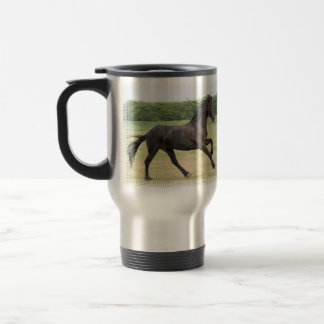 Galloping Friesian Travel Mug