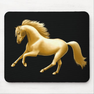 Galloping Golden Horse Mousepad