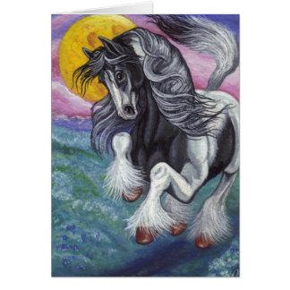 GALLOPING GYPSY HORSE Moon Note Card