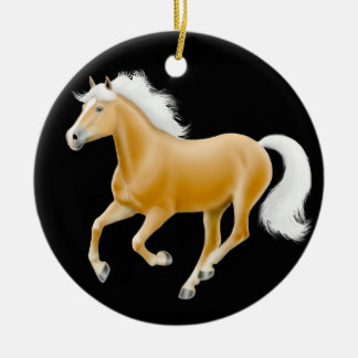 Galloping Haflinger Horse Ornament