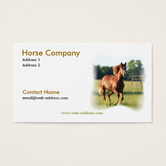 Galloping Horse Business Card