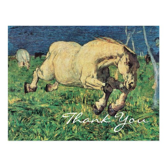 Galloping Horse by Giovanni Segantini Postcard