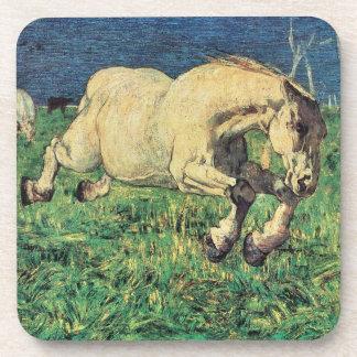 Galloping Horse by Giovanni Segantini, Vintage Art Coaster