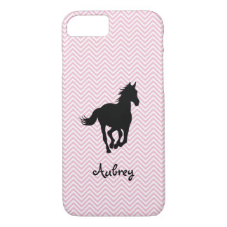 Galloping Horse on Zigzag Personalized iPhone 7 Case