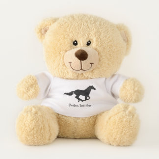 Galloping Horse Silhouette Teddy Bear