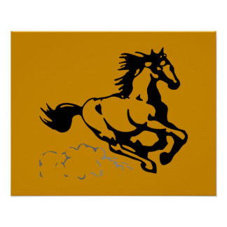Galloping Horse Wild and Free Poster