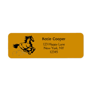 Galloping Horse Wild and Free Return Address Label