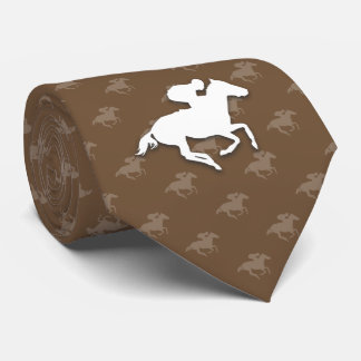 Galloping Horseman | Brown Sports Gifts Tie