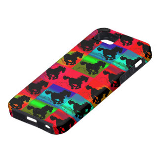 Galloping Horses Equine Silhouetted Horses Case For The iPhone 5