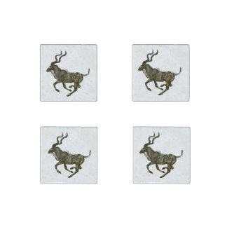 Galloping Kudu Stone Magnets