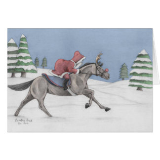 Galloping Santa Card