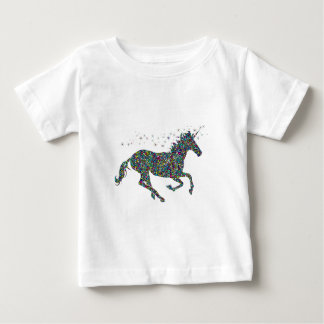 Galloping Unicorn Stained Glass Baby T-Shirt