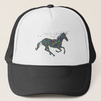 Galloping Unicorn Stained Glass Trucker Hat