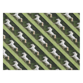 Galloping White Horse Tablecloth