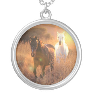 Galloping Wild Horses Necklace