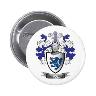 Galloway Family Crest Coat of Arms 2 Inch Round Button