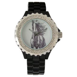 Galluping Horse drawing Wrist Watch