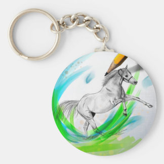 Galop Ahead Basic Round Button Keychain