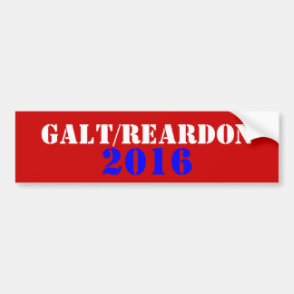 Galt Reardon 2016 Bumper Sticker