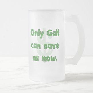 Galt Save Us Frosted Glass Beer Mug