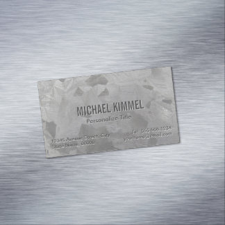Galvanized Metal Look Magnetic Business Card