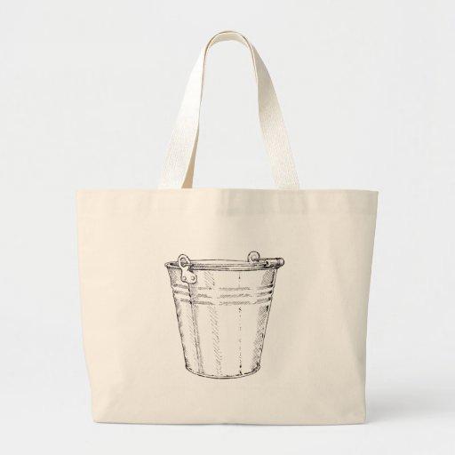 Galvanized Pail Jumbo Tote Bag