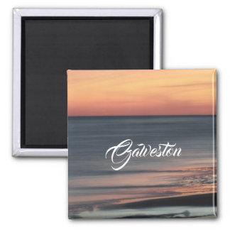 Galveston Beach Sunset Travel Souvenir Custom Magnet