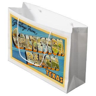 Galveston Beach Texas TX Vintage Travel Souvenir Large Gift Bag
