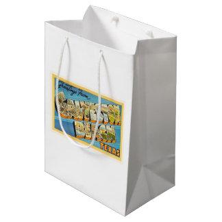 Galveston Beach Texas TX Vintage Travel Souvenir Medium Gift Bag