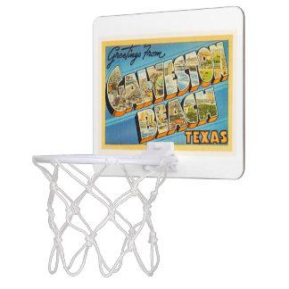 Galveston Beach Texas TX Vintage Travel Souvenir Mini Basketball Hoop