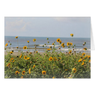 Galveston Island Beach Flowers Greeting Card