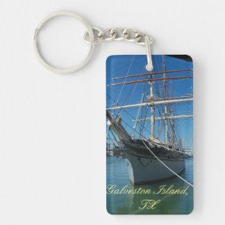 Galveston Island Elissa Ship Photo key chain