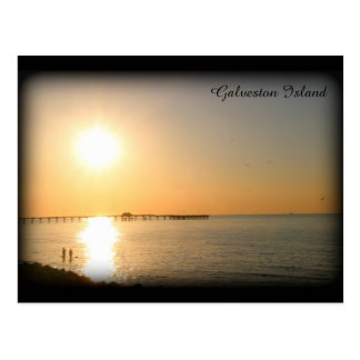 Galveston Island Sunrise Postcard