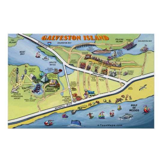Galveston Island Texas Poster