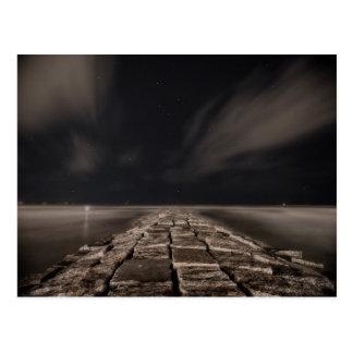 Galveston Night Sky Postcard