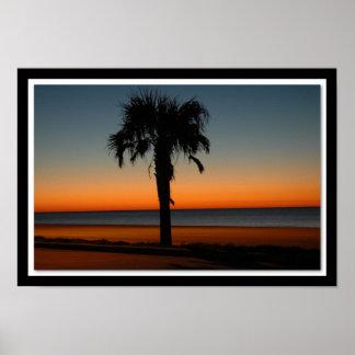 Galveston Sunrise at 89th street Poster