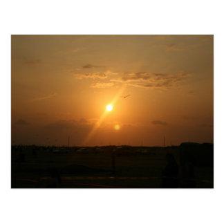 Galveston, TX Sunset Postcard