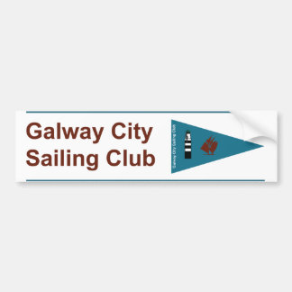 Galway City Sailing Club Bumper & Boat Sticker Bumper Sticker