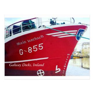 Galway Docks, Ireland Postcard