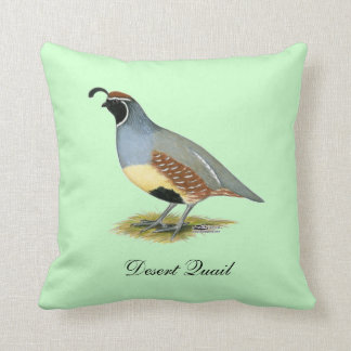 Gambel's Desert Quail Throw Pillow