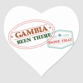 Gambia Been There Done That Heart Sticker