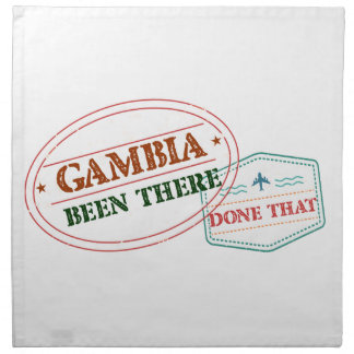 Gambia Been There Done That Napkin