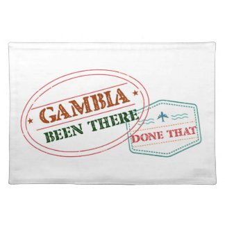 Gambia Been There Done That Placemat