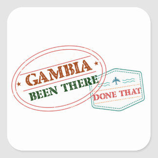 Gambia Been There Done That Square Sticker