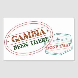 Gambia Been There Done That Sticker