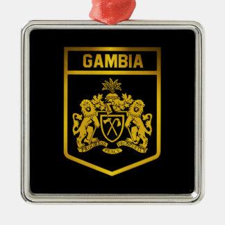 Gambia Emblem Metal Ornament