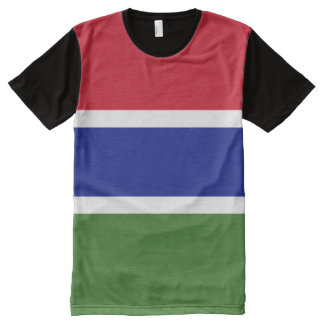 Gambia Flag All-Over-Print T-Shirt