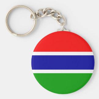 Gambia Flag Basic Round Button Keychain